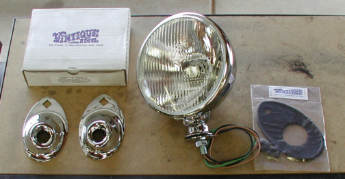 1934 Ford Headlight Stands : Last minute details for my ford coupe